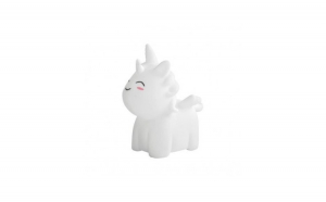 Lampa de veghe in forma de unicorn, 7 culori, alb