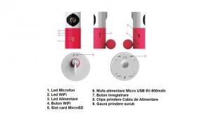 Baby Monitor Video IMK-D1w Camera Wireless, IP, HD cu Microfon, NightVision, Slot MicroSD 32GB,Pink FACTURA+GARANTIE la doar 236 RON