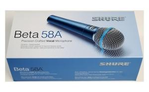 Microfon vocal Beta58A Supercardioid dinamic + Stativ microfon tip girafa, toate accesoriile incluse