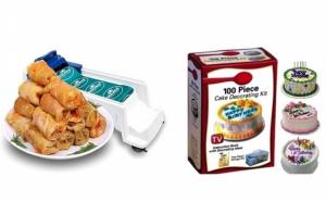 Set 2 aparate ideale in orice bucatarie Aparat de facut sarmale Dolmer + Kit decorare prajituri 100 piese