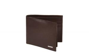 PortofelCalvin Klein Brown Saffiano RFID Passcase Wallet, din piele, Maro