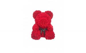 Ursulet din trandafiri, 40cm, rosu, Gonga