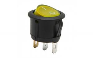 Interupator basculant1 circuit6A-250VON-OFFlumini de galben