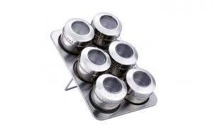 Set 6 recipiente magnetice pentru condimente + suport la doar 62 RON in loc de 149 RON! Garantie 12 luni!