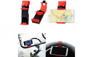 Suport auto volan universal reglabil, rosu cu negru, pentru telefon, model C36, la doar 6 RON in loc de 17 RON