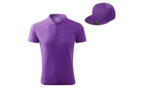 Tricou barbati + sapca - culoare violet