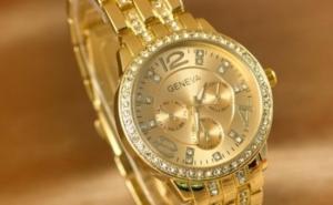 Un accesoriu de lux: Ceas Geneva Exquisite cu elemente Crystal - 2 modele, la doar 59 RON in loc de 189 RON