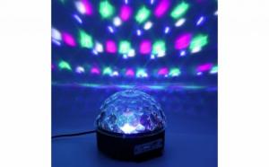 Glob disco cu functie USB pentru redare MP3 si boxe incorporat