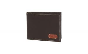 Portofel Tommy Hilfiger George Leather Passcase Wallet, din piele, Maro Inchis