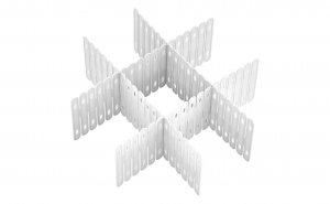 Organizator de plastic alb pentru sertar