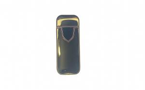 Bricheta electrica cu incarcare USB, cablu inclus, anti-vant, culoare aurie