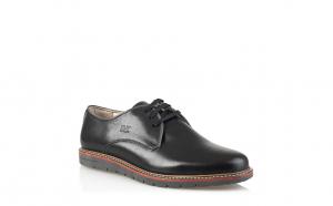 Pantofi din piele naturala 6464 Negri, Maro
