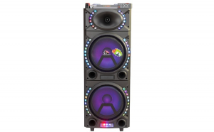"Boxa Activa Portabila 12"", Soundvox™ MT-1820, cu 2 x Microfoane, 190 W, Functie REC, Bluetooth, Fm, Usb, Sd, Aux, Lumini, Telecomanda, Negru"