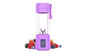 Blender smoothie maker cu USB ,400ml, Mov