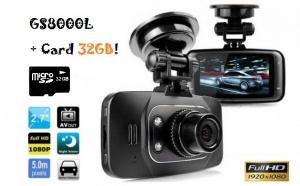 """Camera auto GS8000L + Card 32GB - model ultracomapact, display  LCD de 2.7"""" (6.9 cm),  cea mai buna calitate video HD la 1920/1080p, la doar 179 RON de la 400 RON"""