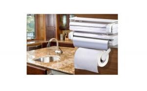 Dispenser triplu pentru bucatarie, folie aluminiu, folie strech si prosoape hartie