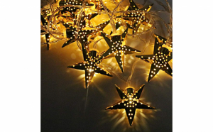 Set 2 x Instalatie stelute aurii Craciun