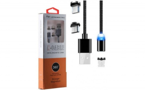 CABLU MAGNETIC 3 IN 1, USB - IPHONE ,