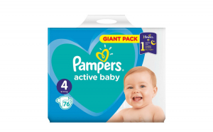Scutece Pampers Active Baby 4 Giant