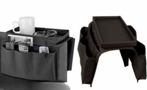 Se potriveste pentru aproape orice dimensiune de fotoliu, canapea sau chiar scaun cu maner: Arm Rest Organizer, la 22 RON in loc de 69 RON