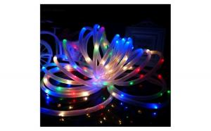 Instalatie de Craciun cu fir din silicon, 10 m, 200 led-uri multicolore cu 10 jocuri de lumini si transformator