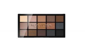 Paleta fard de pleoape, Makeup Revolution, Reloaded, Smoky Neutrals, 15 nuante