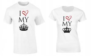 Set de tricouri pentru cupluri de indragostiti P036, la 99 RON in loc de 200 RON