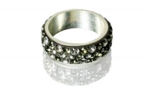Inel Celarun, Crystal Black Ciment, Argint 925