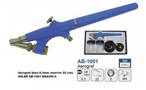 Aerograf duza 0.3mm rezervor 22 cmc ADLER AB-1001 MA0250.0