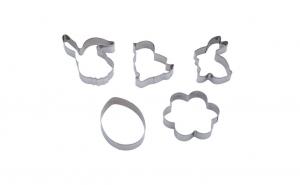 Set 5 forme metalice pentru prajituri de Paste, inox