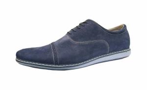 Pantofi Tomis Cap Toe, din piele naturala intoarsa - produsi in Romania, model nou - 2018