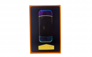 Bricheta electrica cu incarcare USB, cablu inclus, anti-vant, culoare cameleon