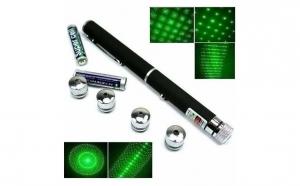 Laser verde puternic - cu 5 capete
