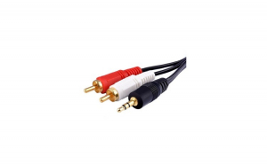 Cablu Audio Stereo 2 RCA Tata la Jack 3.5 mm Tata ,cablu AUX pentru amplificator Telefon, Home Theater DVD 10 m
