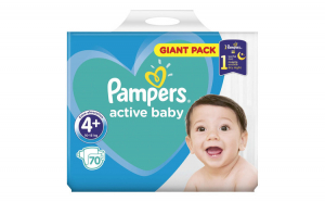 Scutece Pampers Active Baby 4+ Giant
