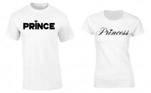 Set de tricouri pentru cuplu Prince & Princess Crown, la 99 RON in loc de 200 RON