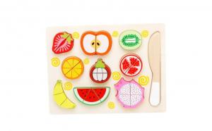 Puzzle Montessori fructe pentru feliat
