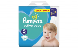 Scutece Pampers Active Baby 5 Giant