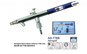 Aerograf duza 0.2mm rezervor 7/22 cmc