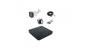 Kit supraveghere video 1 camera exterior full hd cu IR 30 m + xvr 1080P + cablu gata mufat