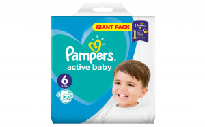 Scutece Pampers Active Baby 6 Giant