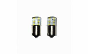 Set 2 becuri Led 1156 12 led SMD siliconat cu flash