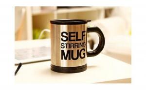 O cana ce isi amesteca singura continutul: Self Stirring Mug