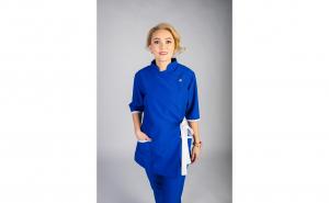 Sarafan Medical stil Kimono, Modern, albastru
