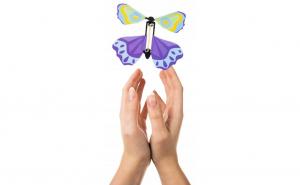 Fluturi zburatori 3d, multicolori, set 3 bucati, 12x12 cm, accesoriu decorativ