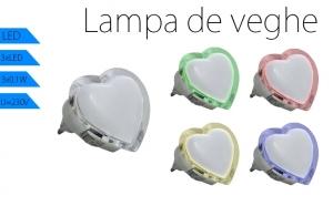 Lampa de veghe LED, model INIMA, Diferite culori, putere 0.4W, la 16 RON in loc de 32 RON