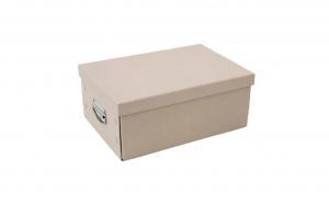 Cutie pentru depozitare, din carton, bej