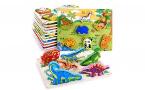 Puzzle Montessori incastru lemn