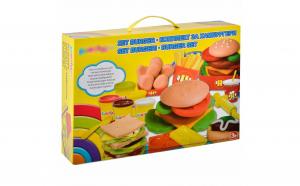 Set plastilina cu forma de burgeri