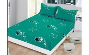 Husa pat cu elastic si 2 fete de perna